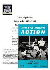 Nigel sims Aston Villa 1955-1964 original main signé Revue complète
