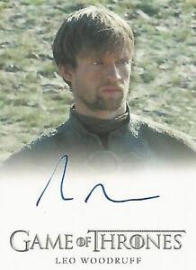 "Game of Thrones Season 6 - Leo Woodruff ""Howland Reed"" Autograph Card"