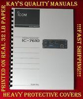 Highest Quality ~ ICOM IC-7610 Basic Instruction Manual 😊C-MY OTHER MANUALS😊