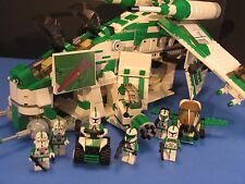 LEGO® brick STAR WARS™ Custom 7676 GREEN 41st LEGION REPUBLIC GUNSHIP + 7 Crew!