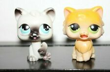 Littlest Pet Shop MAGIC MOTION LICKING CAT YELLOW BROWN WHITE BLACK LOT PERSIAN