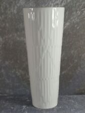 Schumann Arzberg Porzellan Vase weiße Designvase Nr 0211 23 cm 70er Trichtervase