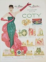 Lot 3 Vintage 1954 Coty Perfume Print Ads