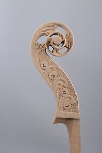 Yinfente 4/4 Cello Neck hand-Carved Full size Cello head Neck High Quality