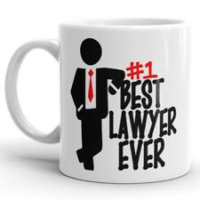 Lawyer Coffee Mug Gift BEST LAWYER EVER Cup Best Advocate Litigator Attorney Mug