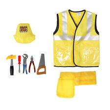 8pcs/Set Kids Construction Worker Costumes Uniform Halloween Cosplay Party