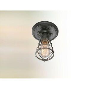 Troy Lighting Conduit 1 Light Ceiling Flush Mount, Old Silver - C3810