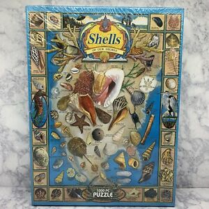 White Mountain Jigsaw Puzzle Shells Of Our Shores 1000 Piece New in Sealed Box