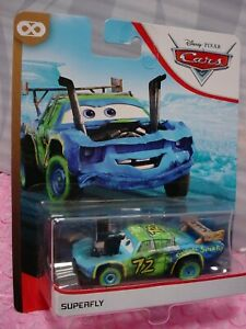 2020 Disney PIXAR Cars The Original SUPERFLY 72❤ blue/green car ❤ THUNDER HOLLOW