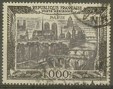 """FRANCE STAMP TIMBRE AERIEN N° 29 """" VUE DE PARIS 1000F 1950 """" OBLITERE TTB"""
