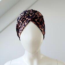 Leopard Print Turban Hat Animal NWT