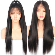 Glueless Lace Front Perücken Afro Synthetik Haar Natürlich Straight Long Hair