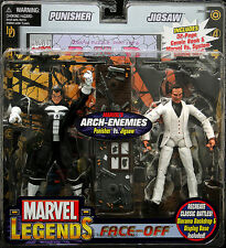 "MARVEL LEGENDS FACE-OFF PACK PUNISHER VS JIGSAW TOY BIZ FIGURE  ""SOLDOUT. RARE"""