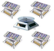 5 Stück Solar Drehteller 360° Präsentierteller Schmuck Drehbühne Uhrenständer