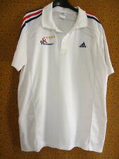 Polo Adidas Equipe de France Handball FFH Tee shirt vintage jersey - XL
