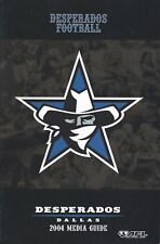 2004 Dallas Desperados Arena Football League Media Guide - AFL #FWIL