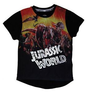 Jurassic World Black Boy's Cotton Summer Short SleevesT-Shirt, Dinosaur Graphic