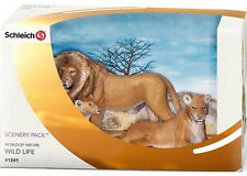 NEW SCHLEICH 41241 Big Cats Lions Scenery Pack Content 14373 14364 14375 RETIRED