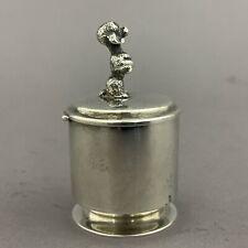 Vintage Sterling Silver Stamp Dispenser Figural Poodle Finial Thomae Company