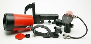 Ikelite Grab Box: Strobe, Tray, Holder & TTL Sensor. Parts Or Repair Only.