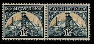 SOUTH AFRICA GVI SG87, 1½d blue-green & yellow-buff, M MINT.