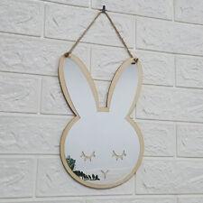 Rabbit Wood Acrylic Mirror Stick Wall Camera Props Baby Room  Wallpaper Decor