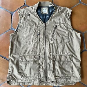 RedHead Fly Fishing Vest Pockets Zip up Front Lined Lightweight Utility 2XL XXL