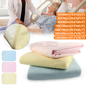 Washable Tuckable Incontinence Bed Wetting Pad Underpad Sheet Mattress Protector