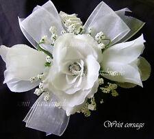 White*Ivory*Pink*Gold*Blue*Black*Silver*Champagne*Rose*Wrist*Pin*Corsage*Wedding