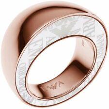 Ladies Emporio Armani Stainless Steel Size 8 Ring EGS1873221508 Genuine