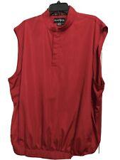 Footjoy Windbreaker Vest Large Red  Snap Buttons