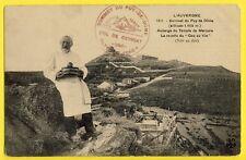 cpa Auvergne SOMMET du PUY de DÔME AUBERGE du YEMPLE Recette du COQ au VIN