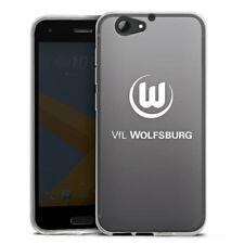 HTC One A9 s Silikon Hülle Case HandyHülle - Vfl Wolfsburg anthrazit