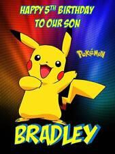 Personalised Pokemon Go Pikachu Birthday Greeting Card & Envelope 381
