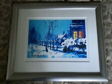 Rolf Harris Christmas Eve In The Snow RARE Ltd Ed Framed Print With COA