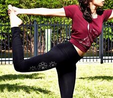 BAMBOO- WOMEN MANDALA FULL LEG LEGGINGS / YOGA PANTS / GYM / ACTIVE WEAR/ SPORTS