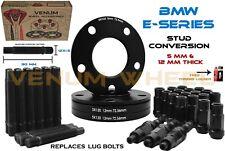 BMW Black Racing Stud Conversion Kit 12x1.5 + 5x120 5mm & 12mm Wheel Spacers