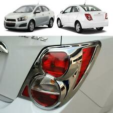 Fit 2012+ Chevrolet Sonic Sedan 4 doors 1 Pair Chrome Tail Lamp Light Cover Trim