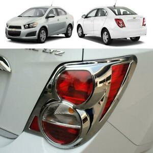 Fit 2012+ Chevrolet Sonic Sedan 4 doors 1 Pair Chrome Tail Lamp Light Cover Trim