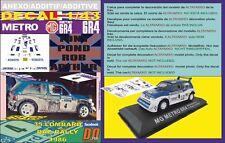ANEXO DECAL 1/43 MG METRO 6R4 T.POND RAC 1986 6th (01)