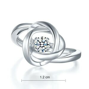 0.50 CT Round Diamond Woven Spiral Twisted Engagement Ring 14K White Gold Finish