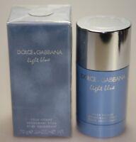D&G Dolce & Gabbana Light Blue pour Homme 70g Deodorant Stick Neu in Folie
