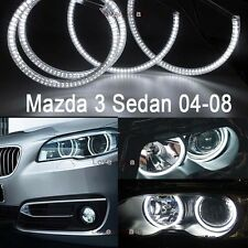 4x White Color SMD LED Halo Ring For Mazda 3 Sedan 2004-2008 Angel Eyes DRL