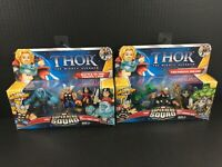 Marvel Super Hero Squad 3-pack LOT THOR Asgardian Smash Battle in Frozen Land