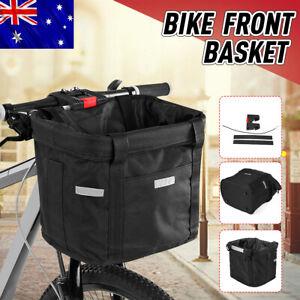 Foldable Bicycle Front Removable Basket Bike Handlebar Dog Carrier Pet Frame Bag