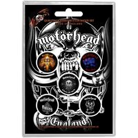 Official Licensed Merch 5-BADGE PACK Rock Metal Pin Badges MOTORHEAD England