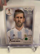 2018 PANINI FIFA WORLD CUP LIONEL MESSI ARGENTINA BARCELONA STICKER CARD 288
