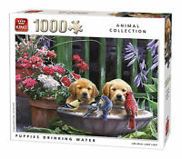 1000 Piece Animal Collection Jigsaw Puzzle - PUPPIES DRINKING WATER 05668