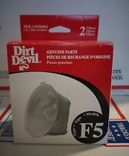 Dirt Devil factory filter F5 box of 2