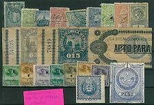 ARGENTINA - lot of FISCAL REVENUE STAMPS - NICE!